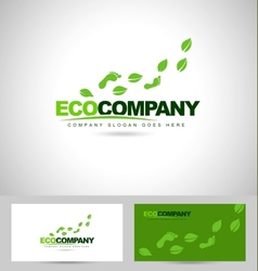 Eco Foot Print Logo vector