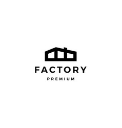 factory logo icon vector image