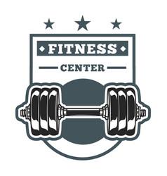 Fitness center logo image vector
