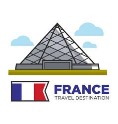 France travel destination landmark louvre vector