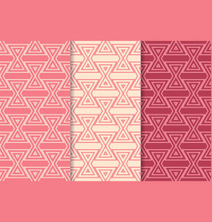 Geometric background triangle red seamless pattern vector