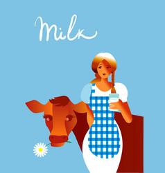got milk vector image