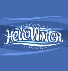 greeting card for winter vector image
