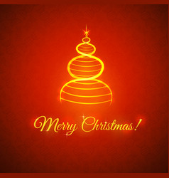greetings with Christmas vector image