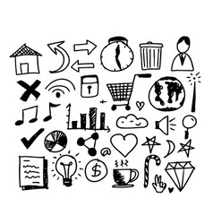 hand drawn line art doodle icon vector image