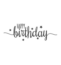 happy birthday sign on white background vector image