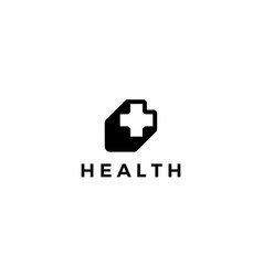 health plus sign logo design concept vector image