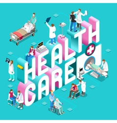 Healthcare 01 concept isometric vector