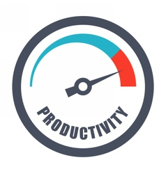 Increase Productivity Concept vector