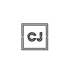 initial letter cj logo template design vector image