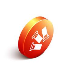 isometric cartridges icon isolated on white vector image