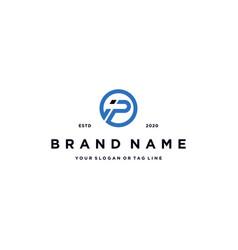 Letter ip logo design vector