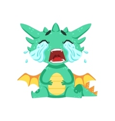Little Anime Style Baby Dragon Crying Out Loud vector image