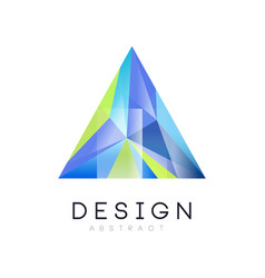 Logo template of triangular abstract crystal vector