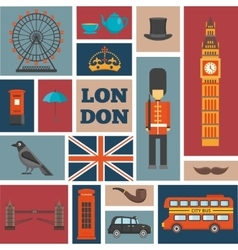 London Square Icon Set vector