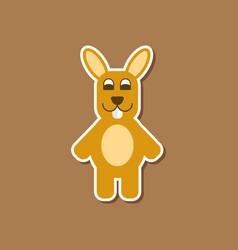 Paper sticker on stylish background rabbit bunny vector
