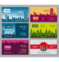 Real estate business card set vector