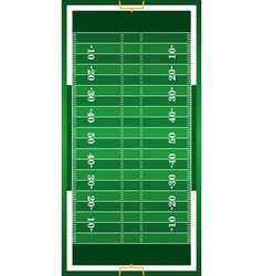 Realistic american football field vector
