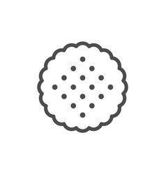 round cookie line outline icon vector image