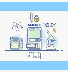 Science colorful concept header vector