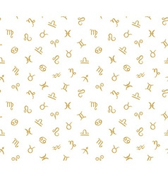 Seamless pattern with horoscope zodiac signs vector image