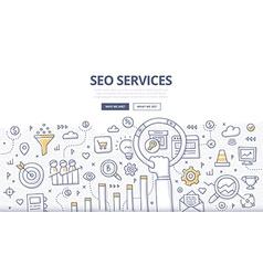 SEO Services Doodle Concept vector