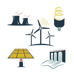 set of energy industry vector image