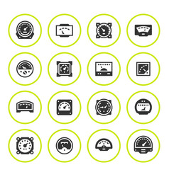 set round icons meter vector image