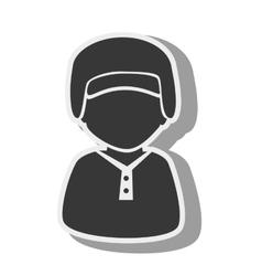 silhouette boy baseball bat isolated vector image