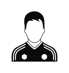 Soccer player black simple icon vector