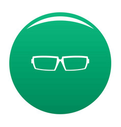 Sport eyeglasses icon green vector