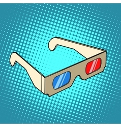 Stereo 3d glasses for cinema vector