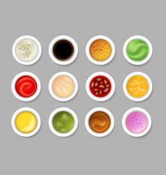 Tasty dip sauces vector