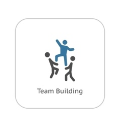 Team Building Concept Icon Flat Design vector image
