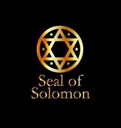The seal of solomon- a magical symbol or hexagram vector