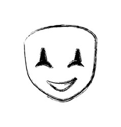 Theatre mask smiling vector