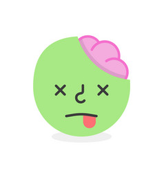 trendy dead emoji smile eps10 vector image