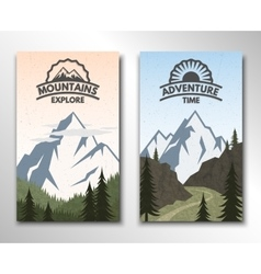 two banners on theme tourism vector image