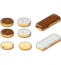 various donuts vector image