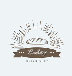 vintage hand drawn sketch style fresh bread for vector image