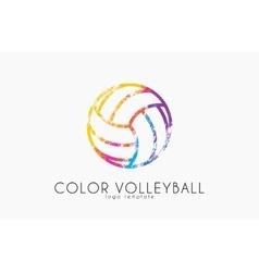 volleyball logo ball logo design vector image