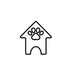 Web line icon booths for dogs animal house vector