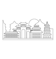 welcome taiwan icon outline style vector image