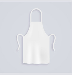 white kitchen aprons chef uniform for cooking vector image vector image