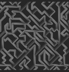 white metal geometric pattern vector image