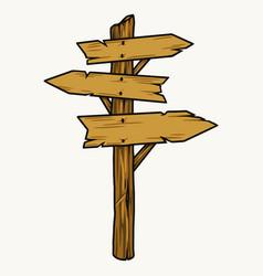 Wooden arrow signpost vector