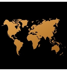 World map on black background doodle vector