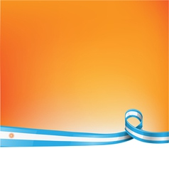background with argentina flag vector image