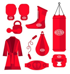 Boxing design elements Fighting and boxing vector image