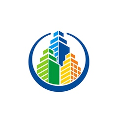 building city construction logo vector image